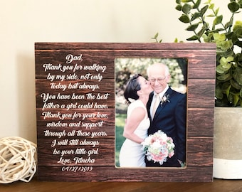Father Of The Bride Frame Etsy
