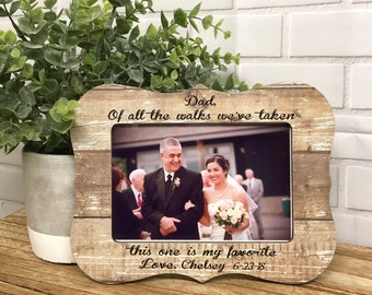 Father Of The Bride Picture Frame Etsy
