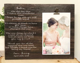 Maid Of Honor Picture Frame Etsy