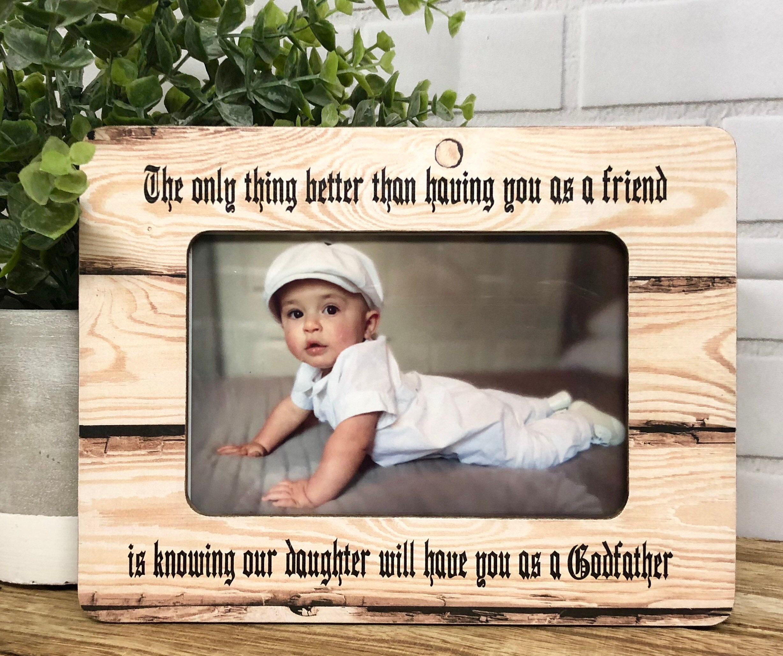 Baptism Frame| Godfather Frame| Godfather Gift| Personalized ...
