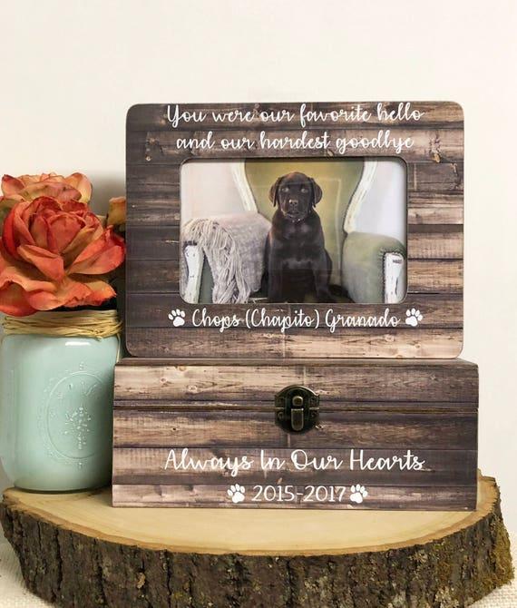 Pet Loss Pet Loss Frame Keepsake Box Memorial Pet Urn Pet Etsy