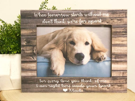 Dog Gift Pet Loss Dog Loss Gift Dog Frame Pet Loss Dog Lover Etsy