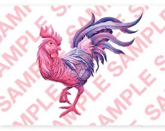 Rooster A4 digital PDF download