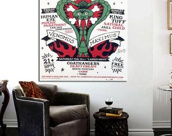 Sailor Jerry Cobrafest 24 x 18 Canvas Poster Chicago Tattoo