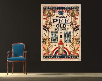 Sailor Jerry Wanna Pee Canvas Poster 24x36
