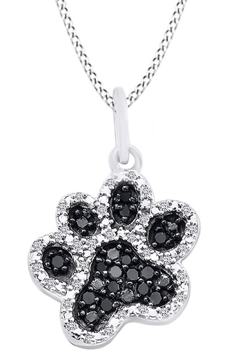 f1706b66b Valentine's Day Sale Round Black & White Natural Diamond | Etsy