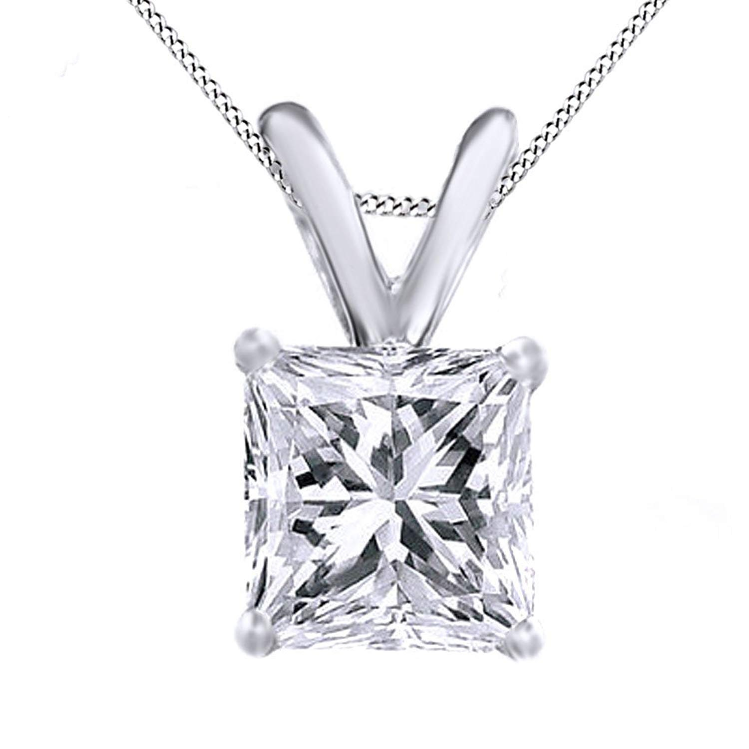 AFFY Round White Cubic Zirconia Cross with Disc Name Engraved Customized 14k Gold Over Sterling Silver Pendant Necklace