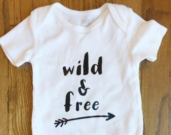 76a7ac6e7 in San Jose, California. Unisex baby ONESIE® | Baby shower gift | Newborn  baby ONESIE® | Unisex baby gift | wild and free