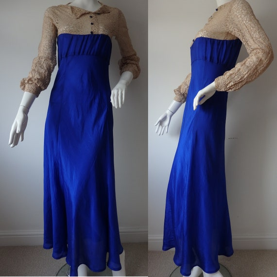 Vintage 30s Evening Gown /  Vintage 1930s Dress /