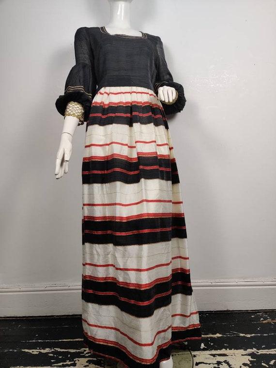 1970s Maxi Dress, Vintage Maxi Dress, 1970s Evenin