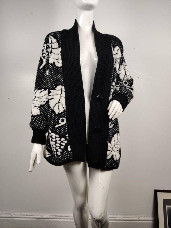 1980s Sweat Coat / Coatigan / Vintage 1980s Cardig