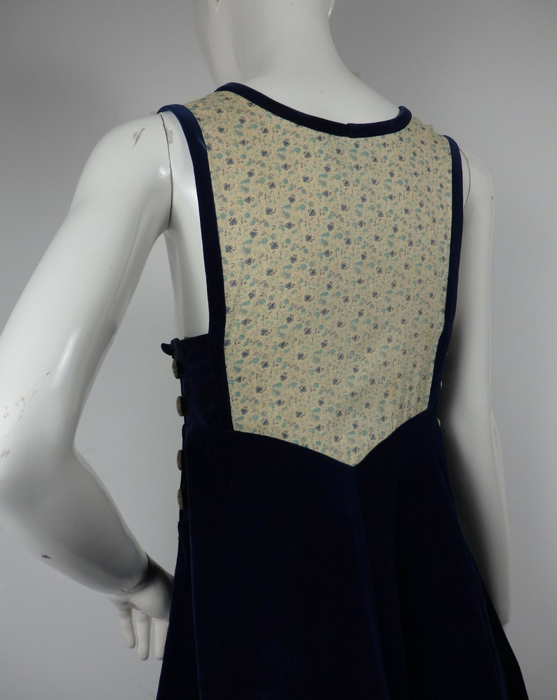 1970s Dress UK 8 10 US 4 6 Vintage 1970s Anna Belinda Pinafore 1970s Vintage Gymslip Vintage Pinafore