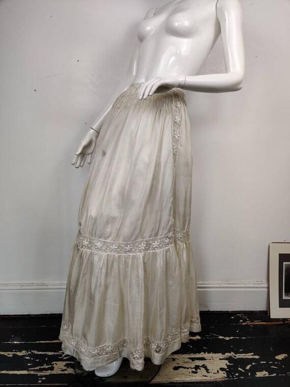 Edwardian Silk Skirt / Antique Silk Skirt / Edward