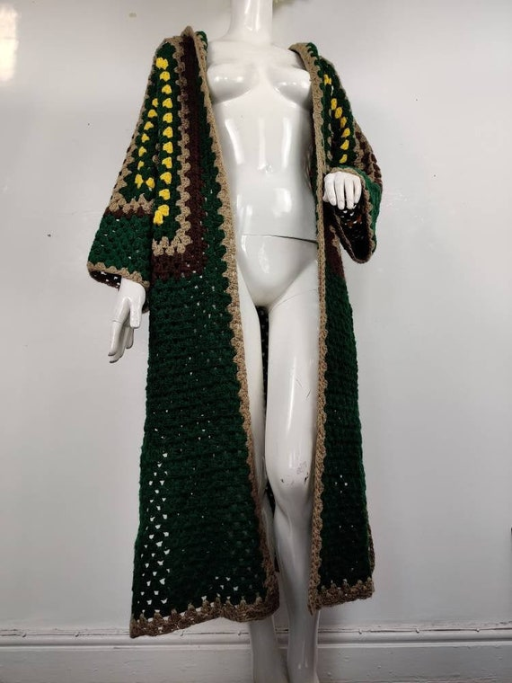 1960s Crochet Cardigan / Vintage 60s Crochet Jacke