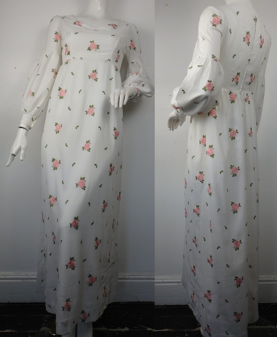 1960s Maxi Dress / Vintage 1960s Cotton maxi Dress