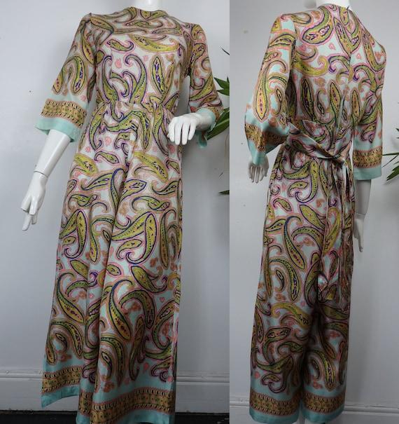1960s Paisley Jumpsuit / Vintage Jumpsuit / Vintag