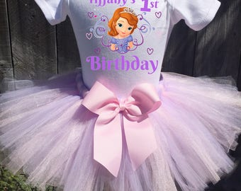 Sophia The First Birthday Outfit Sophia First Birthday Outfit, Custom Sophia The First Birthday Tutu Set, Personalized Sophia Birthday Shirt