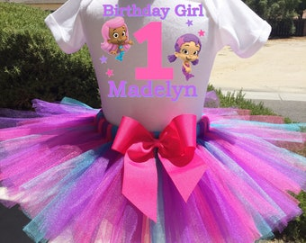 Bubble Guppies Birthday Outfit, Bubble Guppies First Birthday Outfit, Custom Bubble Guppies Birthday Tutu Set, Bubble Guppies BIrthday Shirt
