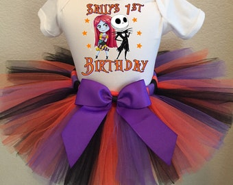 Nightmare Before Christmas Birthday Outfit, Jack Skellington Birthday Outfit, Custom Jack Skellington Birthday Tutu Set, Jack Skellingon