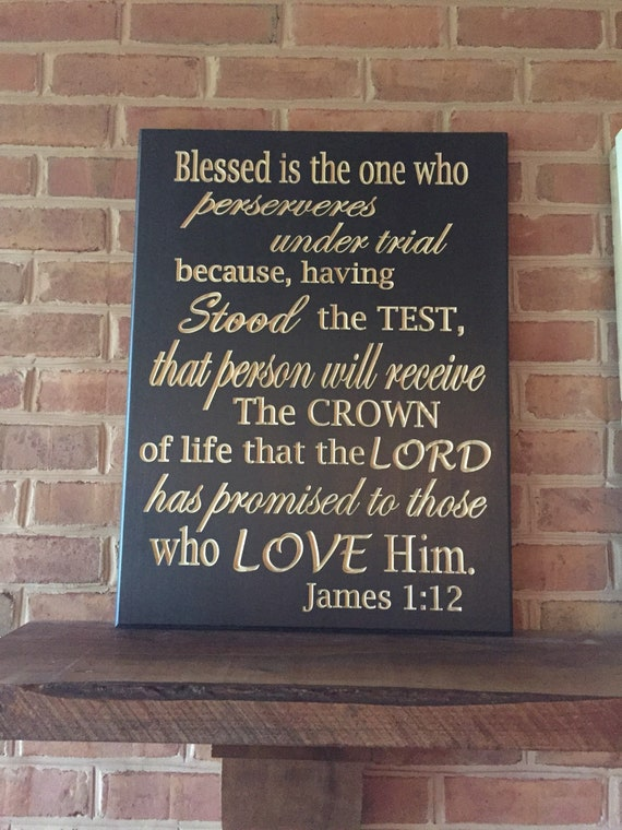 "Decor James 1:12 11/""x22/"" Bible Verse Wall Decal by Scripture Wall Art"