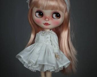 4-piece Vintage Pearl Dress Set for Blythe Doll