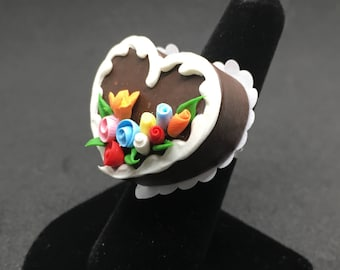 Chocolate Heart Cake Ring