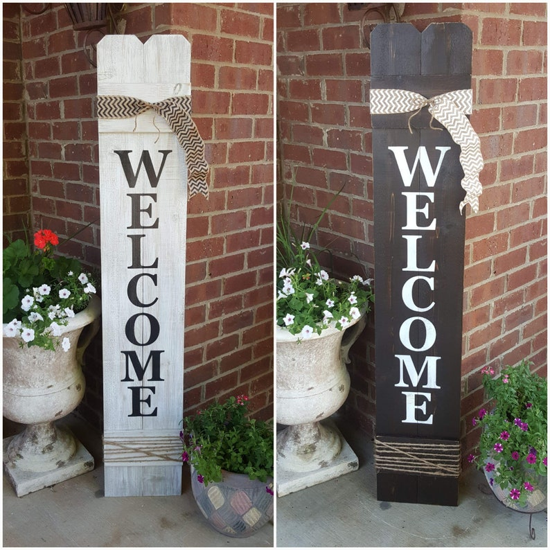 Exceptionnel Welcome Sign, Welcome Sign For Front Door, Front Porch Decor, Large  Vertical Wood Welcome Sign, Cedar Wood Sign, Front Door Welcome Sign