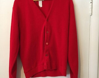 SALE - Vintage Red Sears Sweater Size Large ccd41822570e