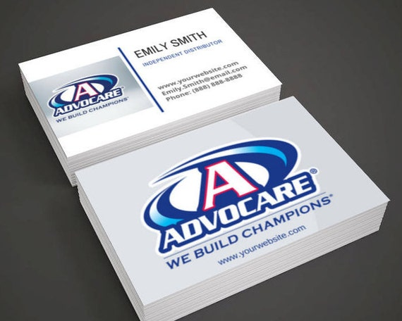 Advocare Business Cards For Independent Distributor Etsy