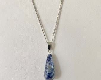 Champagne rain Handmade Lampworked Glass Pendant on 16 Sterling Silver Chain