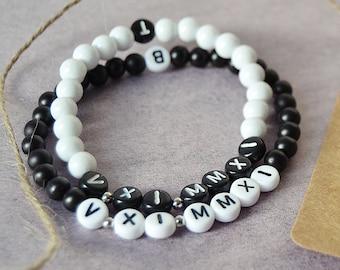 Customizable couple bracelet/couple bracelet/couple/Love/partner/date/date