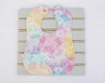 Yellow or Pink NEW hand-crafted Terry Cloth Pull on BABY BIB