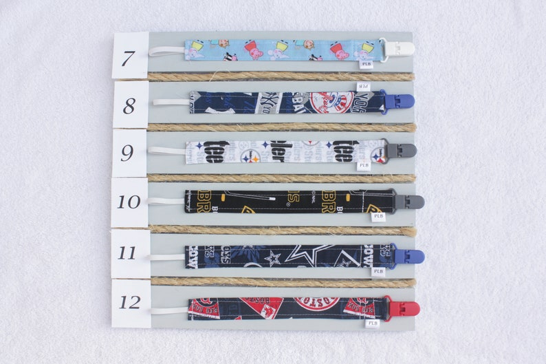 Pacifier Clips  Baby girl pacifier clips  Baby boy pacifier clips  Custom Handmade Pacifier Clips