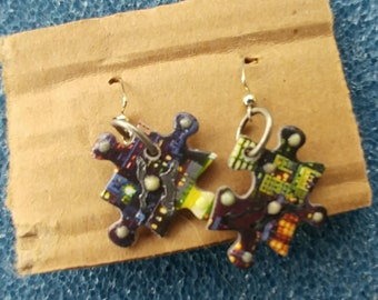 Puzzled Peace earrings