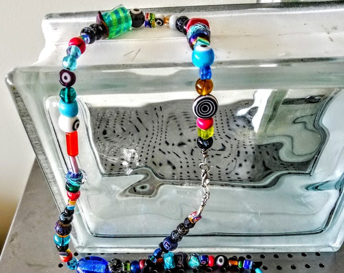 Jewelry, Necklace, Mexican Fire Beads, Beaded Necklace, Beaded Jewelry, Colorful Jewelry, Jewelry for Sale, Womens Jewelry, Trey Coppland
