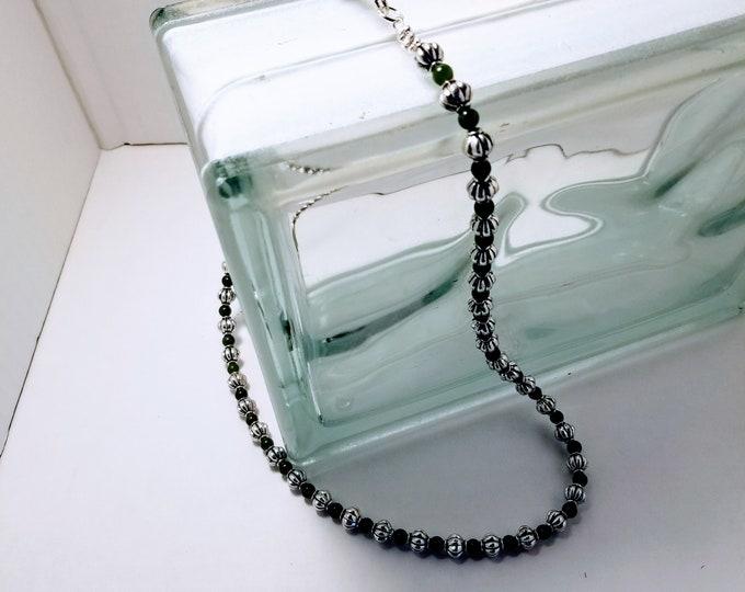 Jewelry, Necklace, Beaded Jewelry, Beaded Necklace, Unisex Jewelry, Womens Wear, Men's Wear, Jade Gemstone, Real Jade Stones, Trey Coppland