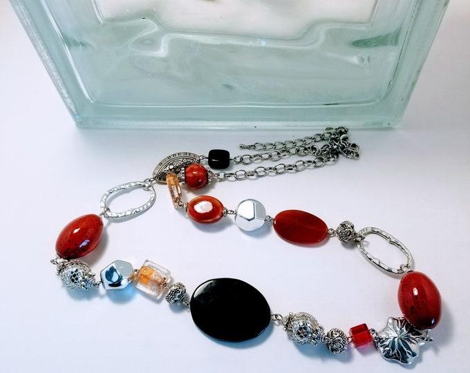 Jewelry, Necklace, Beaded Jewelry, Beaded Necklace, Modern Jewelry, Fashion Jewelry, Trey Coppland Designs,  One of a kind Jewelry, Jewelry