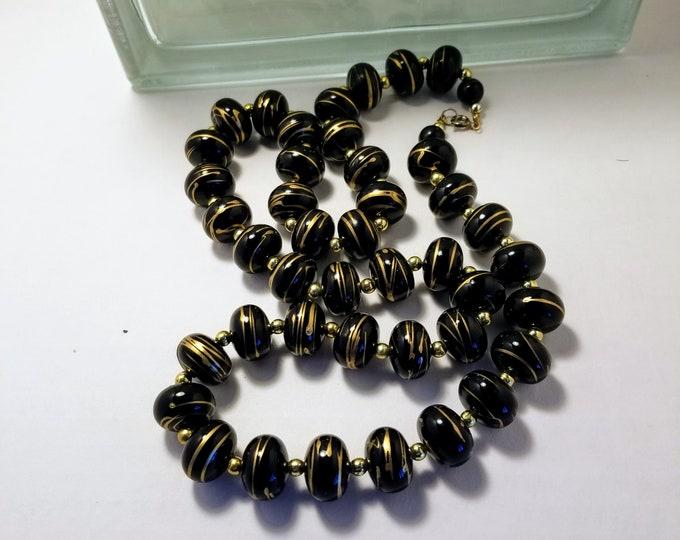 Jewelry, Necklace, Beaded Jewelry, Beaded Necklace, Black and Gold Beads, Womens Wear, Street Fashion, Trey Coppland Designs, Trey's Arte