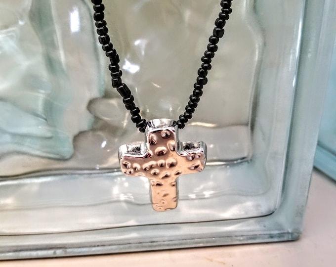 Jewelry, Necklace, Beaded Necklace, Beaded Jewelry, Charm Jewelry, Charm Necklace, Silver Charm, Seed Beads, Trey Coppland Designs, Art's