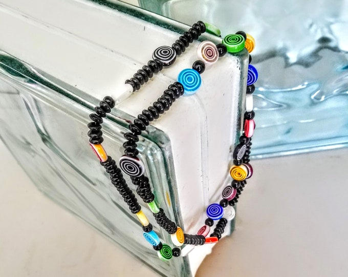 Jewelry, Necklace, Beaded Jewelry, Beaded Necklace, Colorful Jewelry, Trey Coppland Designs, Seed Beads, Handmade Jewelry, Hand Strung,