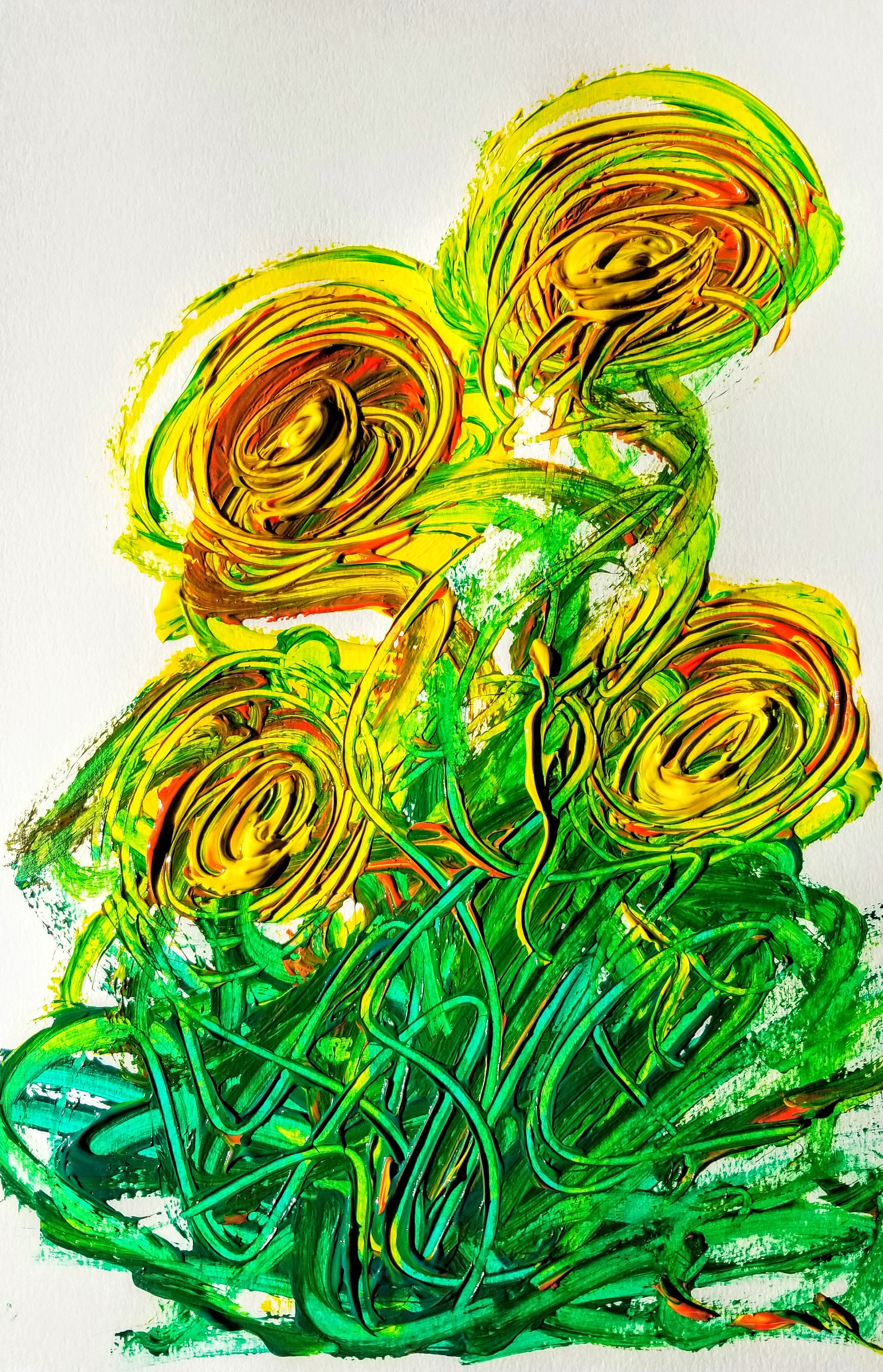 Cactus Flowers - Art, Abstract, Paintings, Color Art, Art Gallery ...