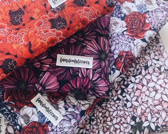 floral book sleeves with zippers | sleeves | bookish accessories | zipper book sleeves | book sleeves