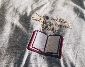 miss willa colyns book club embroidered tee | from blood and ash | hawke flynn | poppy balfour