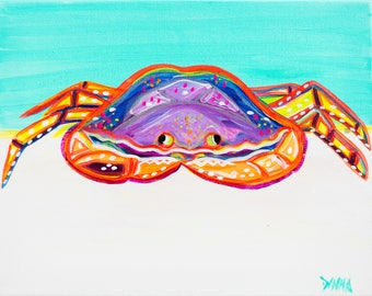 The Crab - Colorful Abstract Art - Paper Print