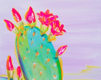 Prickly Pear I - Colorful Abstract Art - Paper Print