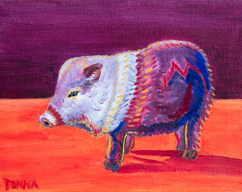 Javelina - Colorful Abstract Art - Paper Print