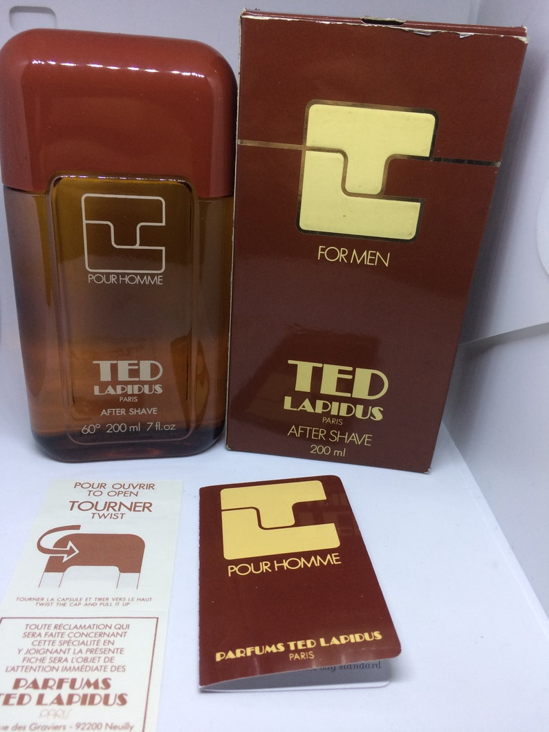 First Eau Ted Edition Homme ' Vintage 70s Perfume Xxl 200 Pour Man De Lapidus Discontinued Ml Toilette Splash 76YbfmgyIv
