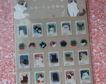 Kitty Stamp Stickers - Planner cats for journaling or stationary