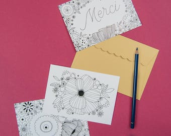 Set of 3 cards to choose from