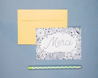 "Postcard ""MERCI"""